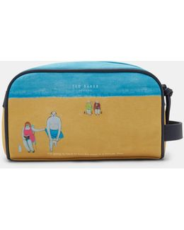 Limited Edition Beach Scene Wash Bag