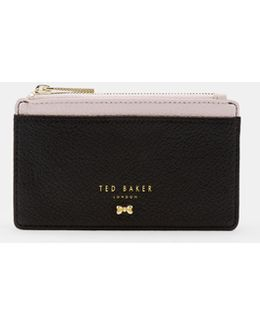 Zipped Leather Card Holder
