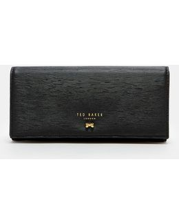 Looped Bow Leather Matinee Wallet