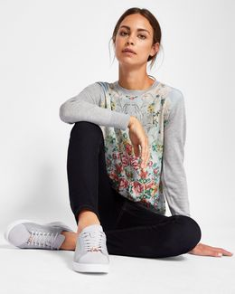 Patchwork Fine Knit Jumper