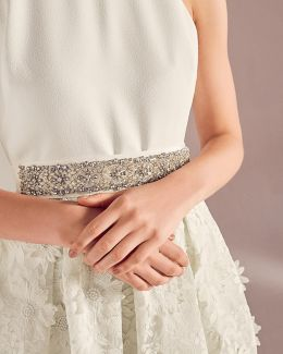 Floral Embellished Belt