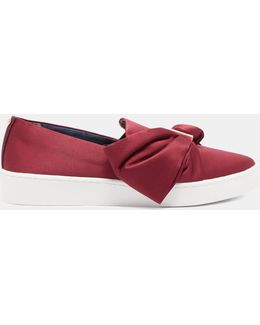 Bow Detail Slip On Trainers