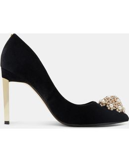 Brooch Detail Court Shoes
