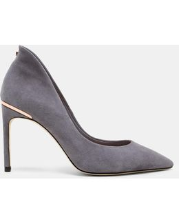 Pointed Toe Suede Courts