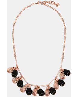 Mini Plissé Drop Necklace