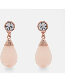 Mini Plissé Drop Earrings
