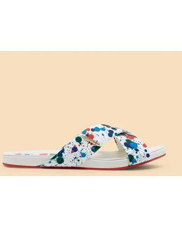 Paint Splash Print Sandals