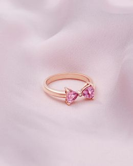 9ct Rose Gold, Pink Tourmaline And Diamond Ring