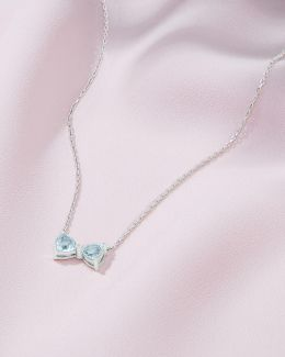 9ct White Gold And Diamond Necklace