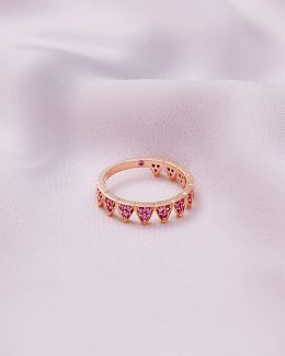 9ct Rose Gold And Pink Sapphire Ring