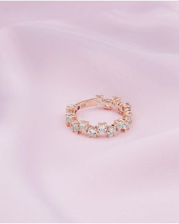 9ct Rose Gold And Morganite Shuffle Ring