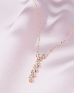 9ct Rose Gold And Morganite Necklace