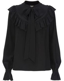 Costume Silk Ruffle Blouse