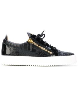 Placca Logo Leather Sneakers