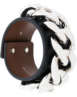 Infinity Leather Bracelet With Chain
