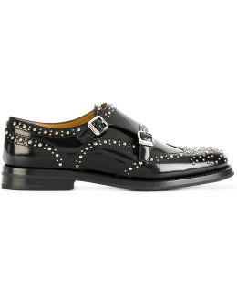 Lana Leather Shoes With Double Monk Strap