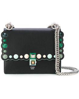Kan I Small Leather Handbag With Studs