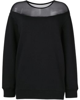 Sweatshirt With Trasparent Detail