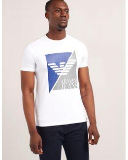 Sliced Eagle Logo Short Sleeve T-shirt