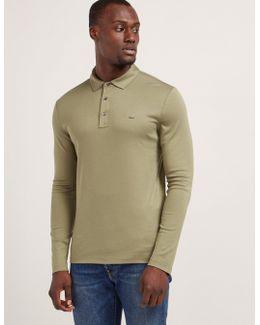 Sleek Long Sleeve Polo Shirt