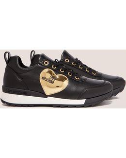 Metallic Heart Sneakers