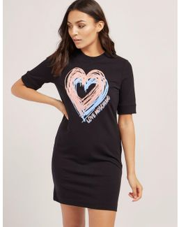 Heart Sweatshirt Dress