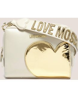 Gold Heart Small Shoulder Bag