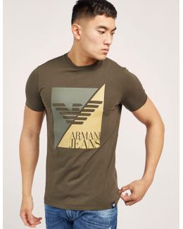 Sliced Eagle Logo Short Sleeve T-shirt