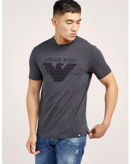 Textured Eagle Logo Short Sleeve T-shirt
