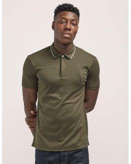 Tipped Short Sleeve Polo Shirt
