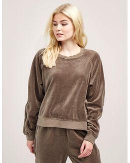 Velour Zip Sweatshirt