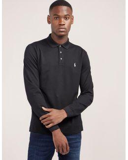 Stretch Long Sleeve Polo Shirt