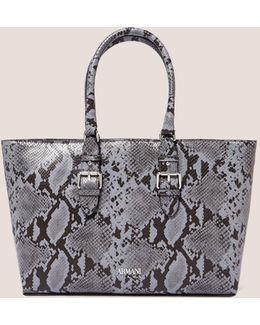 Snakeskin Shopper Bag