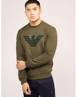 Embroidered Eagle Sweater