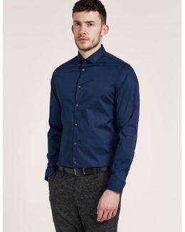 Slim Fit Cotton Stretch Long Sleeve Shirt