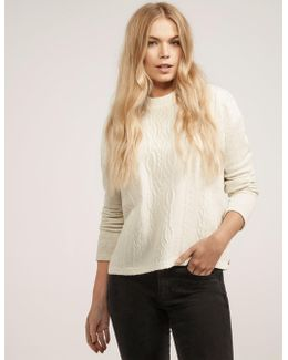 Cable Front Sweatshirt