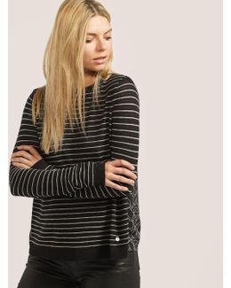 Stripe Knit Heart