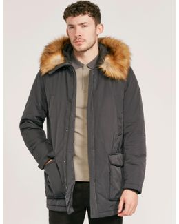 Faux Fur Parka Jacket