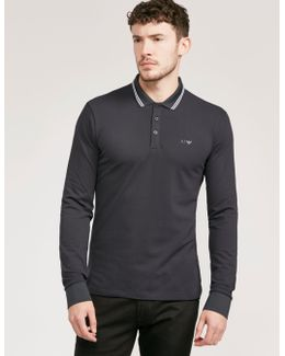 Modern Fit Long Sleeve Polo Shirt