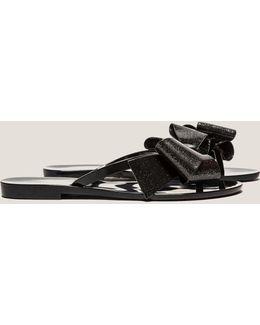 Glitter Bow Sandals
