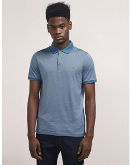 Dot Short Sleeve Polo Shirt