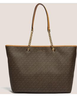 Jet Set Travel Medium Logo Tote
