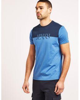 Contrast Print Short Sleeve T-shirt