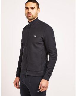 Pique Zip Through Sweatshirt