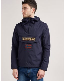 Rainforest Overhead Jacket Hooded Layered Nylon In Navy