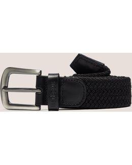 Webbing Leather Belt