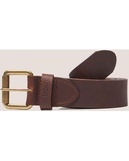 Matt Leather Belt