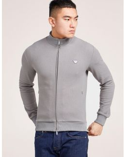 Pique Zip Through Sweatshirt