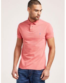 Weathered Mesh Short Sleeve Polo Shirt