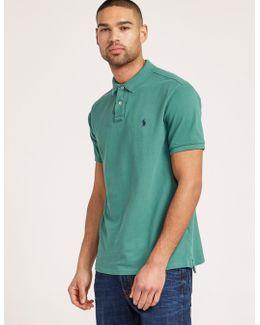 Weathered Mesh Short Sleeve Polo Shirt